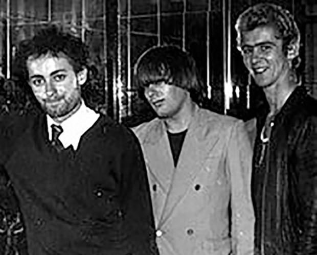 The Victims circa 1977 - Dave 'Flick' Faulkner, James Baker and original bassist, Rudolph V